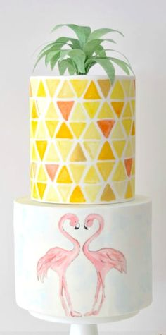 Flamingo Springs Cake