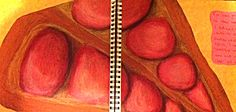 Primary source oil pastel pomegranates A02 & 3