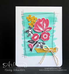 nutmeg creations: Hey There Buds Card - Artisan WOW by Cindy Schuster