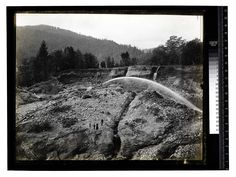 Salstrom's Mine, Orleans #2 [Hydraulic Mining for Gold - Orleans/unknown] Date: Unknown Ericson Photograph Collection, Region 01 North and northeastern Humboldt County Contributing Institution: Humboldt State University Library