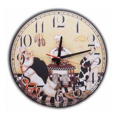 MDF Duvar Saati - Mutfak Ve Aşçılar
