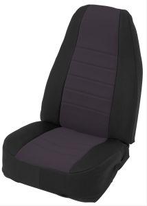 Neoprene Seat Cover Set Wrangler JK 4D 2013-2016 Black by Smittybilt