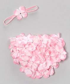 Take a look at this Pink Hydrangea Bloomers & Headband - Infant by Bébé Oh La La on #zulily today!