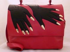 """""""Schiaparelli"""" gloves, red leather bag. At http://karinasbags.co.uk/pages/collection_192784.cfm"""