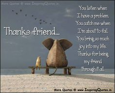Quotes about Thanks and friendship (23 quotes)