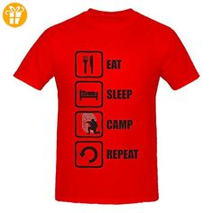 Eat Sleep Camp Repeat Funny Gaming Men's T-Shirt XX-Large (*Partner-Link)