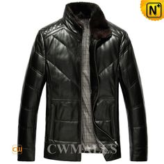 CWMALLS Down Padded Leather Jackets for Men CW846058 Warm down filled leather jackets for men, crafted from soft sheepskin leather with down filling, feature in removable mink fur collar and quilted patterns at the shoulder, available in black, tan and blue, you will stay toasty and stylish in such a great down jacket. www.cwmalls.com PayPal Available (Price: $597.89) Email:sales@cwmalls.com