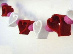 DIY Fabric heart cut outs.Too many possibilities! Heart Cut Out, Heart Garland, Valentines Diy, Working Area, Holiday, Fabric, Crafts, Garlands, Cut Outs