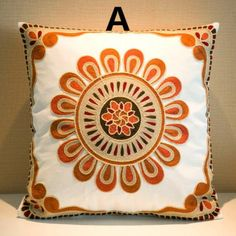 Flower embroidered cushions for sofa Chinese style