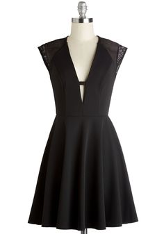 No Time Like Wow Dress. Seize the ever-so-stylish moment in this stunning black dress. #black #modcloth