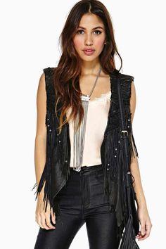 Rebellion Fringe Leather Vest