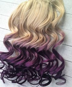 Violet Hair Extensions/Violet Purple Ombre/Purple DipDye/ | ombrehair - Accessories on ArtFire brown instead