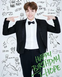 BTS Bighit Trans : [ Happy Birthday to BTS J-Hope (Dance Team Leader,Aegyo Boss/Captain,(Member who) seems like he's in the maknae linebut is (actually) in the hyung line,Hope of Bangtan ans ARMY's)! Bts Jin, Jhope Bts, Bts Bangtan Boy, Bts Boys, Suga Suga, Gwangju, Bts Happy Birthday, J Hope Birthday, Bts Jhope Birthday