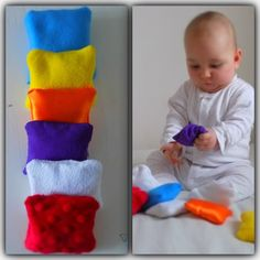 In my Pinterest research about Montessori baby toys I was inspired to make those Sensory Bean Bags perfect for babies. They are simple open-ended toys that allow babies to experience many different…