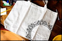 DIY {doily canvas bag} » ashleyannphotography.com