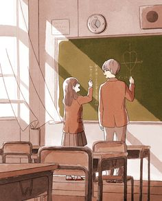 Image about itukai in Cute by Wendy on We Heart It Cute Couple Drawings, Cute Couple Art, Anime Love Couple, Cute Drawings, Cute Couple Wallpaper, Anime Scenery Wallpaper, Anime Couples Manga, Cute Anime Couples, Desenhos Gravity Falls