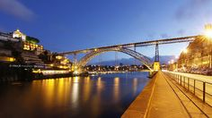 Porto by Night  &  Ponte D. Luis I  -  Portugal
