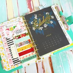 theplannersociety: It's July folks! Interesting choice of colors from @riflepaperco, for this month's calendar?.. Beautiful though!