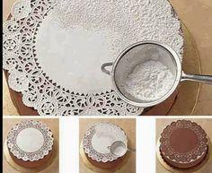 Como fazer bolo renda açucar