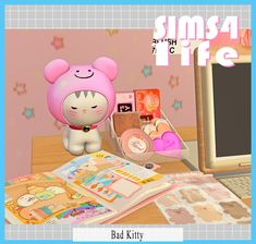 Cat Sim, Iphone App Layout, Jem And The Holograms, Bad Cats, Sims 4, Videogames, Journaling, Hello Kitty, The Creator