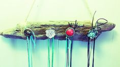 Handmade Rustic Jewelry Holder/Hanger by RockCandyPendants on Etsy