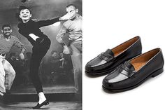The 15 Most Iconic Items Of Clothing In Film  #refinery29  http://www.refinery29.com/2013/07/49815/movie-fashion#slide10  Funny Face, Penny Loafers  Ballet shoes and penny loafers suddenly became a craze after Audrey Hepburn casually burst into song and dance while wearing the comfy slip-ons.     Bass Shoes Wayfarer Black, $99, available at Bass Shoes.  Photo: Courtesy of Paramount Pictures