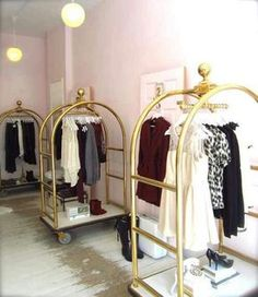 Use bellman luggage carts as clothes racks….