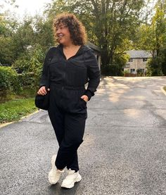 Jumpsuit worn with sneakers | Photo by Alison | For more style inspiration visit 40plusstyle.com