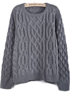 To find out about the Grey Long Sleeve Cable Knit Dipped Hem Sweater at SHEIN, part of our latest Sweaters ready to shop online today! Nerd Fashion, Fashion Outfits, Clothing Sites, Cable Knit Sweaters, Cute Shirts, Knit Patterns, Affordable Fashion, Grey Sweater, Lana