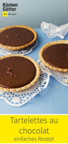 Kleine feine Törtchen mit einer unwiderstehlichen Schokoladencreme gefüllt - das ist ein absolutes Muss für jeden Schokoladenfan. Wir zeigen dir das Rezept für Tartelettes au chocolat. Sweet Bakery, Cupcakes, Muffin, Cookies, Breakfast, Desserts, Food, Fitness, Chocolate Pop Tarts