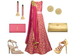 Benarsi Salmon Pink Silk Gown - how would you accessorize this look? Pink or Gold - LuxShoppe.com Wedding Prep, Wedding Events, Inspiration Boards, Style Inspiration, Asian Bridal, Silk Gown, Pink Silk, Online Boutiques, Bridal Dresses