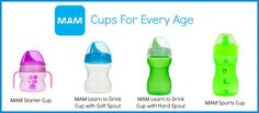 #babynest -MAM cups for every age. Available at www.babynest.com.au