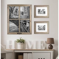 Better Homes and Gardens 4-Opening Rustic Windowpane Collage Frame - Walmart.com