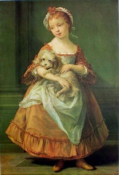 Countess Stanhope Holding A Dog, 1761, by Pompeo Bartoni (1708-1787)