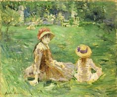 In the Garden at Maurecourt  Oil on Canvas  1884 The Toledo Museum of Art  In this painting she depicted the well tended garden of the country estate of her married sister, Edma Pontillon, located at Maurecourt, twenty miles north of Paris.