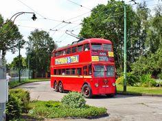 London Transport double decker trolleybus
