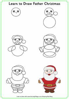 Learn To Draw Father Christmas Or Santa Drawing StepDrawing