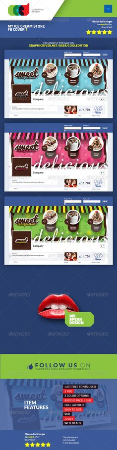 My Ice Cream Store Facebook Cover 1