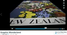 """Interesting video on vintage poster art -  https://vimeo.com/114574856 - """"Graphic Wonderland celebrates the power of the poster and the publicity pioneers of the golden age... the significance of vintage design to art and cultural history and the shaping of national identity. Set in New Zealand, with international relevance and parallels, Graphic Wonderland blends professional contemporary production, including digital silkscreening, with nostalgic charm..."""" AntikBar.co.uk"""