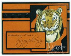 Prickley Pear Rubber Stamps: Symphony, Tiger