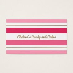 Pink Stripes business cards Custom Office Retirement #office #retirement