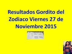 Resultados Gordito del Zodiaco Viernes 27 de Noviembre 2015 Loteria Nacional de Panama