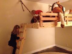 Custom Hanging Loft Bed $800 -- plus extra for installation