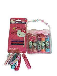 Hello Kitty Gift Set - Five Flavored Lip Balm Set Incl - Carry Case and Hello Kitty Hair Set Incl: Two Puffy Clip - Ten Hair Pins - Five Hair Ties Bundle Hello Kitty http://www.amazon.com/dp/B00XOTEQSQ/ref=cm_sw_r_pi_dp_2XCIvb1J6AG04