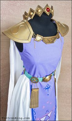 Princess Hilda cosplay outfit with crown by TheIronRing.deviantart.com on @deviantART