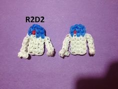 Rainbow Loom R2D2 charm. Designed and loomed by Emily Hill. Click photo for YouTube tutorial. 04/21/14