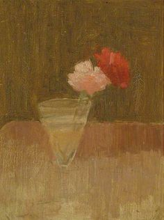 Victor Pasmore, Carnations in a Glass Vase