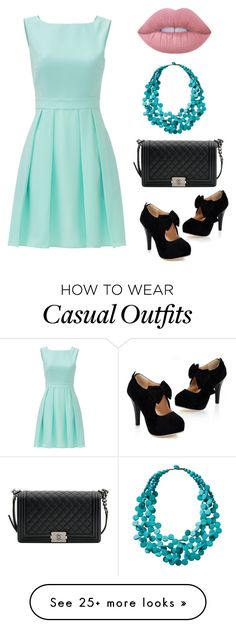 """Semi casual"" by jordan-vartan on Polyvore featuring Kate Spade, Chanel, TravelSmith, Lime Crime and girlsnightout"