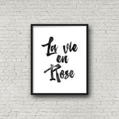 French quote La Vie en Rose French Nursery Decor by PrintsDigital