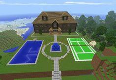 Minecraft Rainbow Dash Sky Waterfall House Minecraft